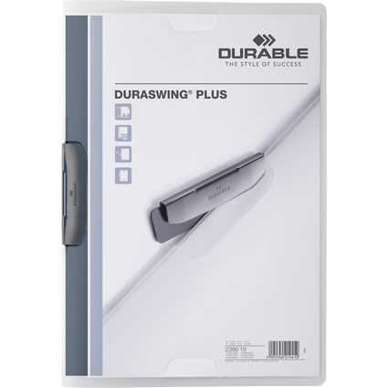 DURABLE Klemm-Mappe DURASWING PLUS, DIN A4, transparent