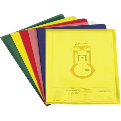 DURABLE STANDARD Sichthülle, DIN A4, PP, 0,12 mm, farbig