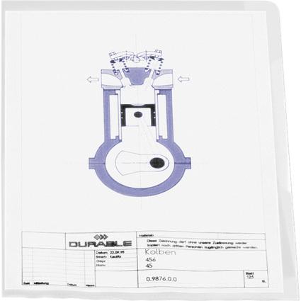 DURABLE STANDARD Sichthülle, DIN A4, PP, 0,12 mm, genarbt
