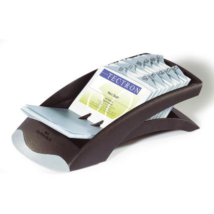 DURABLE Visitenkartenkartei VISIFIX desk VEGAS, schwarz