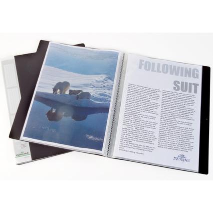 DURABLE Sichtbuch DURALOKK, A4, mit 30 Sichthüllen, schwarz