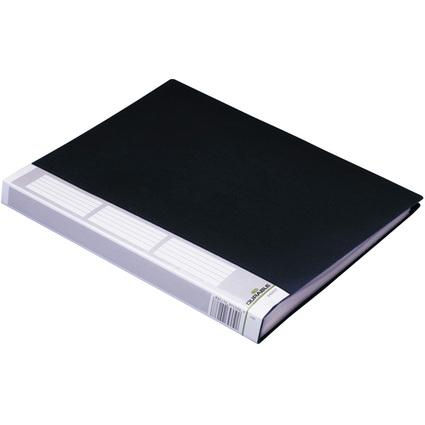 DURABLE Sichtbuch DURALOOK, A4, mit 40 Sichthüllen, schwarz