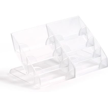 DURABLE Visitenkarten-Aufsteller, Hartplastik, mit 4 Fächern