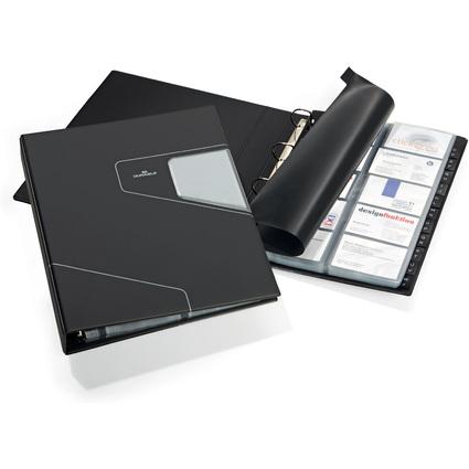 DURABLE Visitenkarten-Ringbuch VISIFIX PRO, breit, schwarz
