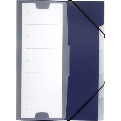 DURABLE Ordnungsmappe 5, DIN A4, PP, 5 Fächer, dunkelblau