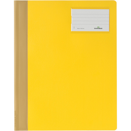 DURABLE Schnellhefter, DIN A4, aus PVC, gelb