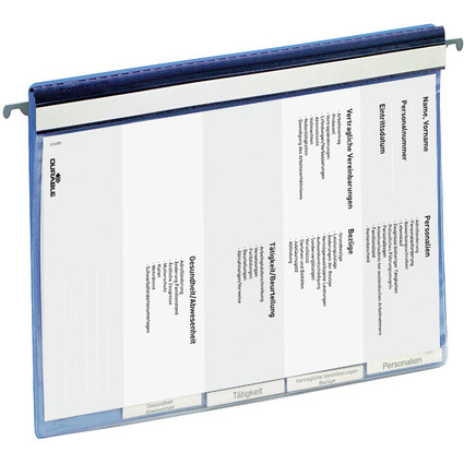 DURABLE Personalhefter, DIN A4, blau