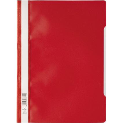DURABLE Schnellhefter, DIN A4, aus PP-Folie, rot
