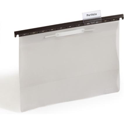 DURABLE Hängehefter, DIN A4, grau, 60 mm Vollsichtreiter