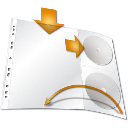 DURABLE Prospekthülle für CD's, A4, mit Seitenklappe, PP