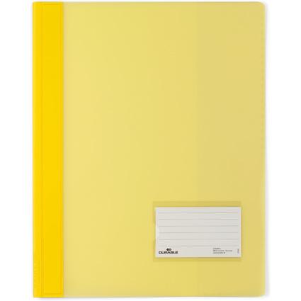 DURABLE Schnellhefter DURALUX, DIN A4, gelb-transluzent