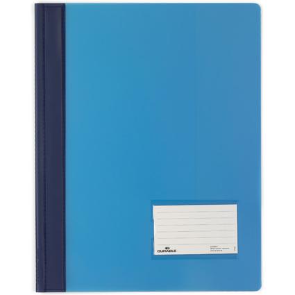 DURABLE Schnellhefter DURALUX, DIN A4, blau-transluzent
