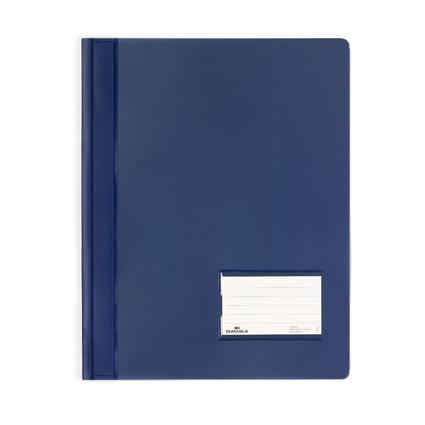 DURABLE Schnellhefter DURALUX, DIN A4 dunkelblau-transluzent