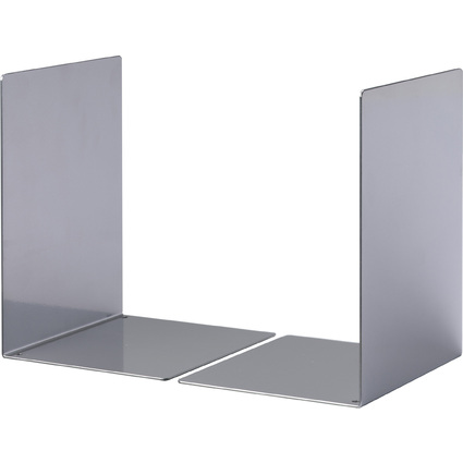 DURABLE Buchstütze L, aus Stahl, metallic silber