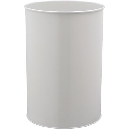DURABLE Papierkorb METALL, rund, 30 Liter, grau
