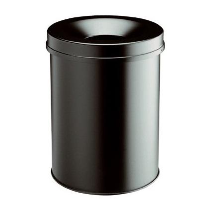 DURABLE Papierkorb SAFE, rund, 15 Liter, schwarz