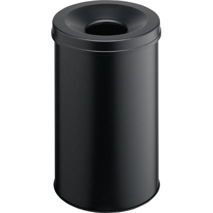 DURABLE Papierkorb SAFE, rund, 30 Liter, schwarz