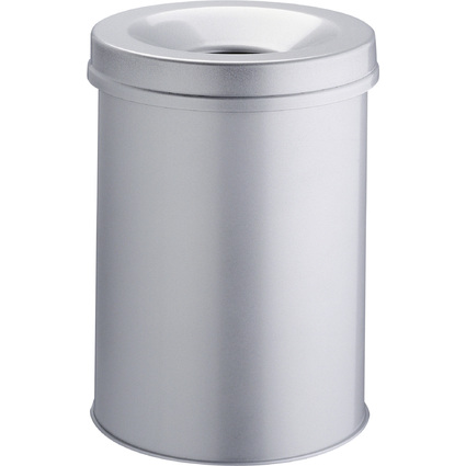 DURABLE Papierkorb SAFE, rund, 30 Liter, grau