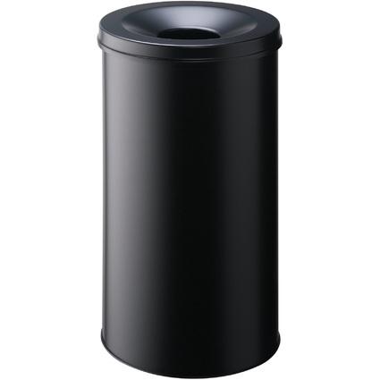 DURABLE Papierkorb SAFE, rund, 60 Liter, schwarz