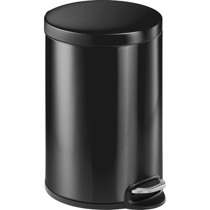 DURABLE Tret-Abfalleimer Metall, rund, 20 Liter, anthrazit