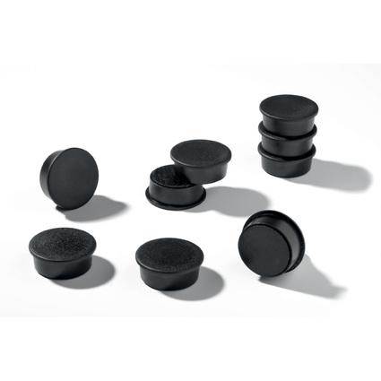 DURABLE Haftmagnete extra, rund, Durchmesser: 37 mm, schwarz