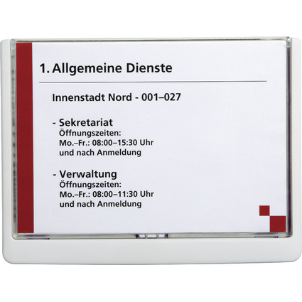 DURABLE Türschild CLICK SIGN, DIN A5, weiß