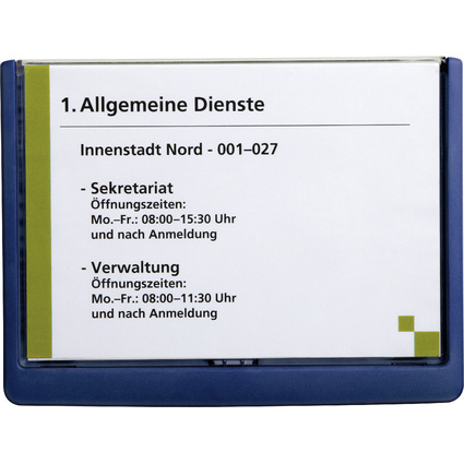 DURABLE Türschild CLICK SIGN, DIN A5, dunkelblau