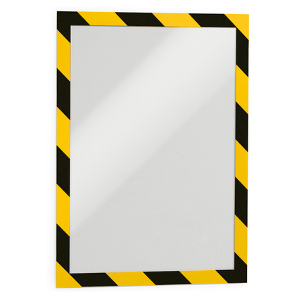 DURABLE Magnetrahmen DURAFRAME SECURITY, A4, gelb/schwarz
