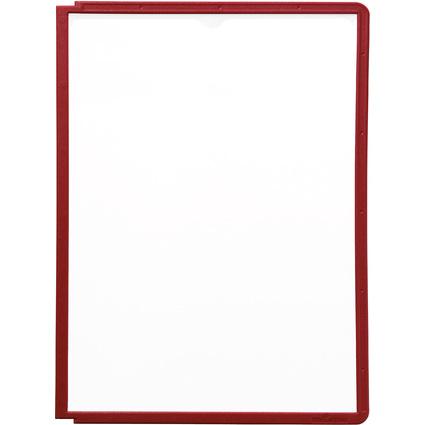 DURABLE Sichttafel SHERPA, DIN A4, Rahmen: rot