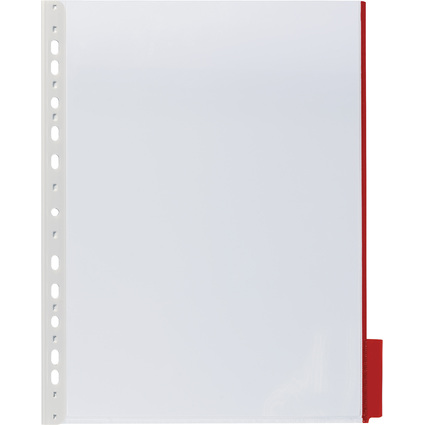 DURABLE Sichttafel FUNCTION, DIN A4, transparent, Tab: rot