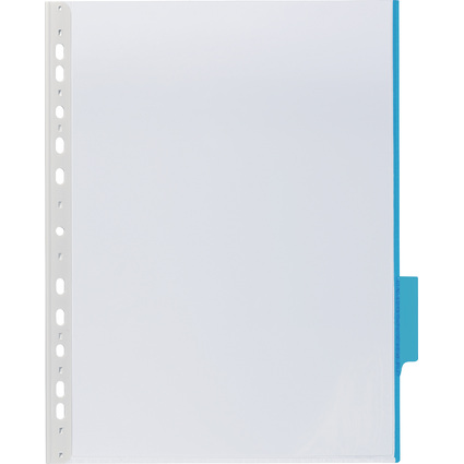 DURABLE Sichttafel FUNCTION, DIN A4, transparent, Tab: blau