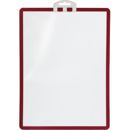 DURABLE Infotafel SHERPA, DIN A4, Profilrahmen rot
