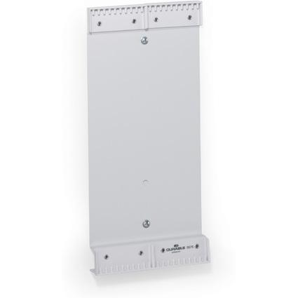 DURABLE Wandhalter FUNCTION, für 20 Sichttafeln DIN A4, grau