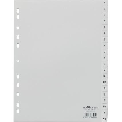 DURABLE Kunststoff-Register, A-Z, A4, 20-teilig, grau