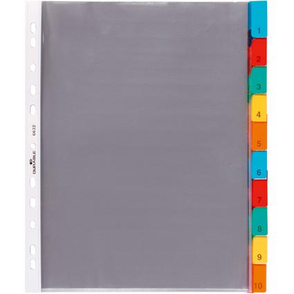 DURABLE Hüllenregister, A4, 10-teilig, 1 - 10, transparent