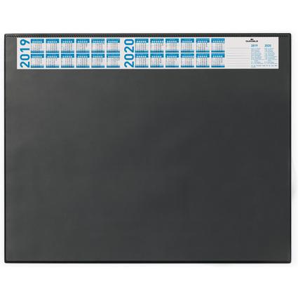 DURABLE Schreibunterlage mit Jahreskalender, schwarz