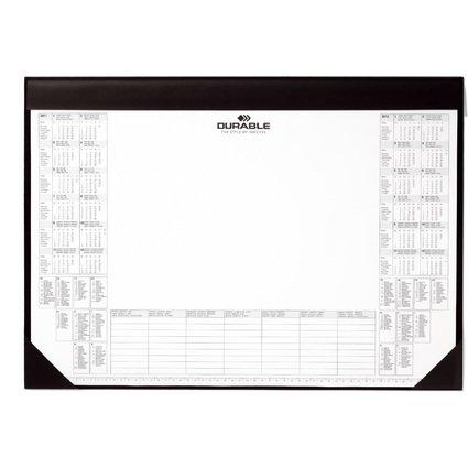 DURABLE Schreibunterlage mit Kalenderblock, schwarz