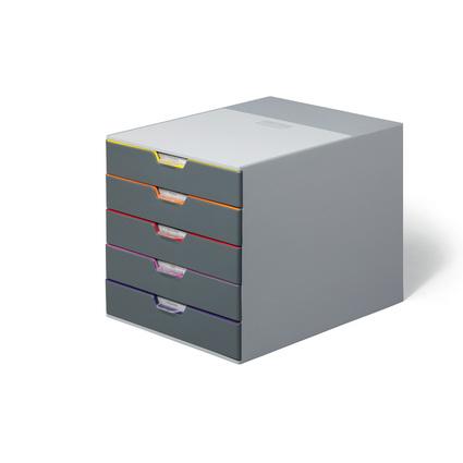 DURABLE Schubladenbox VARICOLOR 5, mit 5 Schubladen