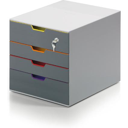 DURABLE Schubladenbox VARICOLOR 4 SAFE, mit 4 Schubladen