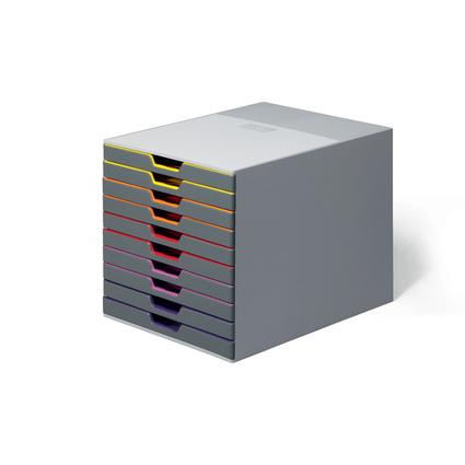 DURABLE Schubladenbox VARICOLOR 10, mit 10 Schubladen