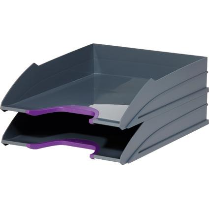 DURABLE Briefablagen-Set VARICOLOR, grau / lila