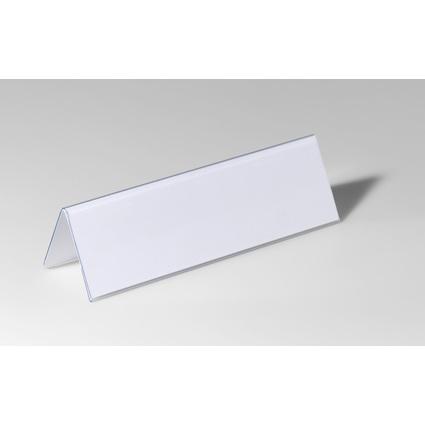 DURABLE Tisch-Namensschild, Dach-Form, aus Hartfolie