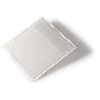 DURABLE Selbstklebetaschen POCKETFIX CD/DVD, transparent