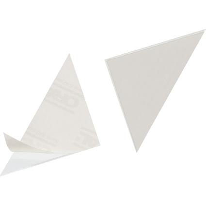 DURABLE Dreieck-Selbstklebetaschen CORNERFIX, 175 x 175 mm