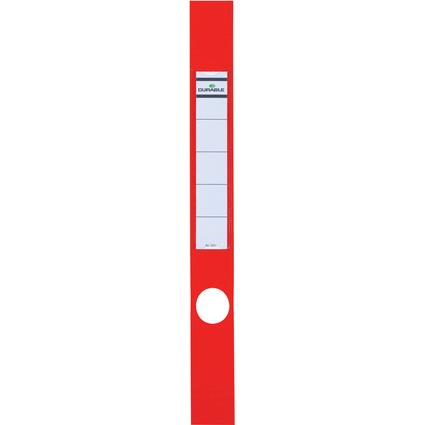 DURABLE Ordnerrücken-Etiketten ORDOFIX, rot