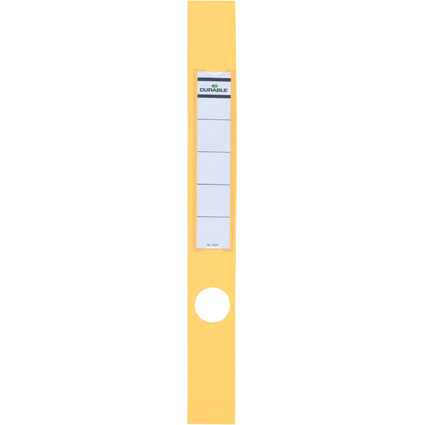 DURABLE Ordnerrücken-Etiketten ORDOFIX, gelb