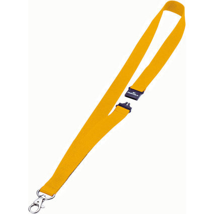 DURABLE Textilband 20, mit Sicherheitsverschluß, gelb