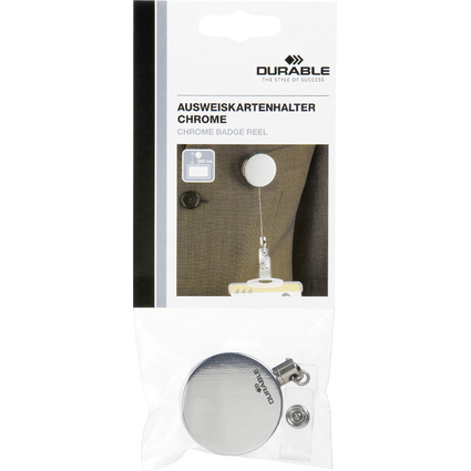 DURABLE Ausweishalter Chrom, metallic-silber