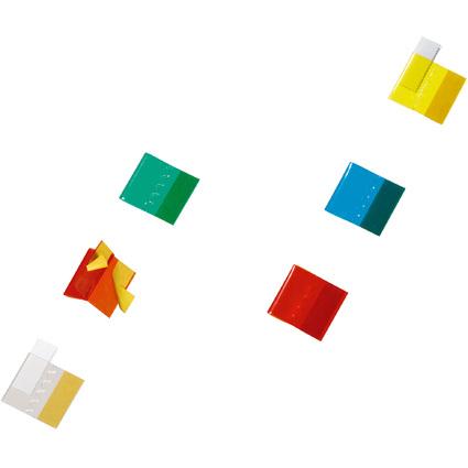DURABLE Vollsicht-Reiter TABFIX, farbig sortiert, 2-zeilig
