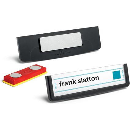 DURABLE Namensschild FRAME, mit Magnet, 67 x 17 mm, schwarz
